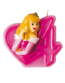 Vela número 4 Aurora Disney Princesas