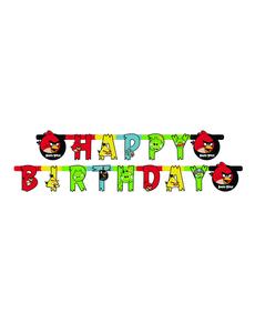 Guirnalda Happy Birthday Angry Birds