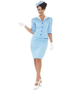 Disfraz de azafata de avión elegante
