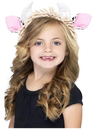 Diadema de orejas de vaca infantil