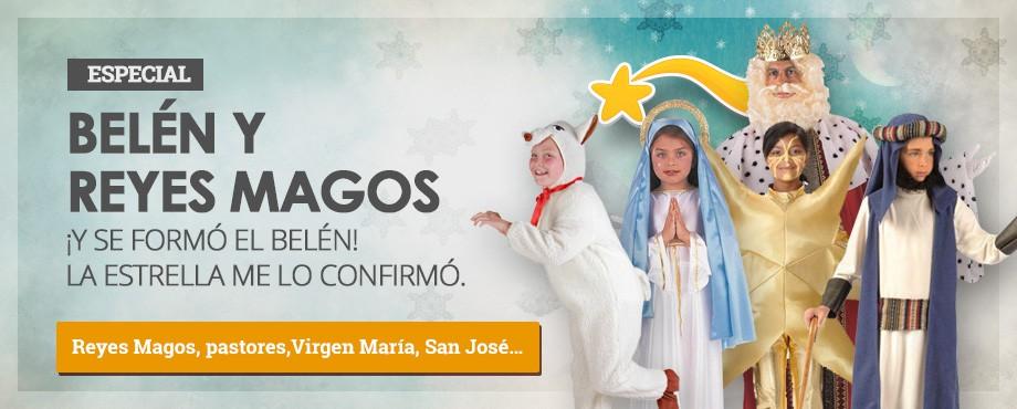 Disfraces para actuaciones de colegios, belenes vivientes con La Virgen María, ángeles, pastores, ovejas, San José, el niño Jesús y la estrella.