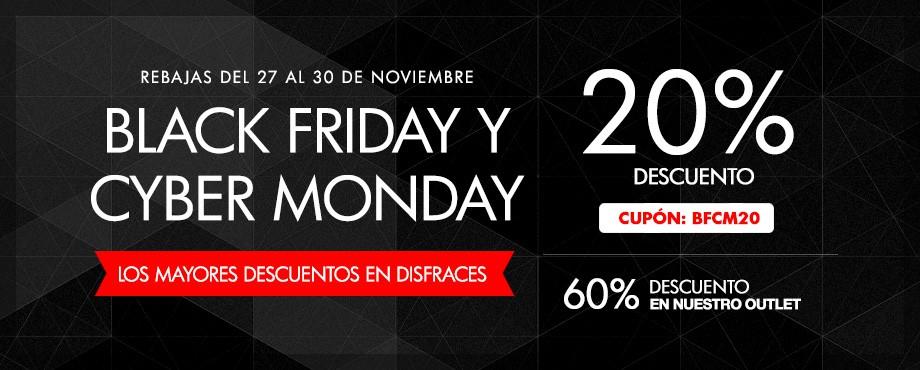 Rebajas Disfraces Black Friday y Cyber Monday. Disfraces baratos con grandes descuentos de hasta 60%