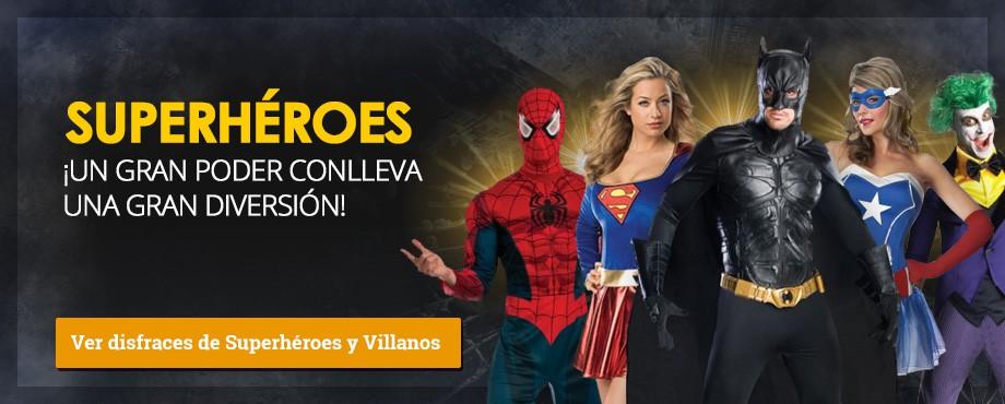 Disfraces superhéroes Marvel y DC. Un disfraz de superhéroe es el regalo más original de estas navidades.