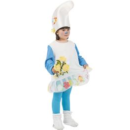 Disfraz de Pitufina del bosque niña