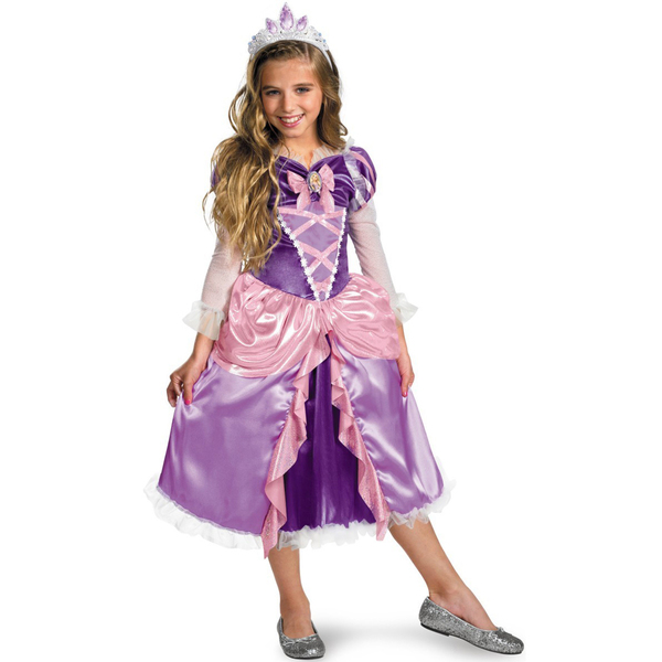 Disfraz de Rapunzel para niña platinum: comprar online