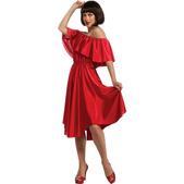 Disfraz de Fiebre del Sábado Noche Vestido Rojo