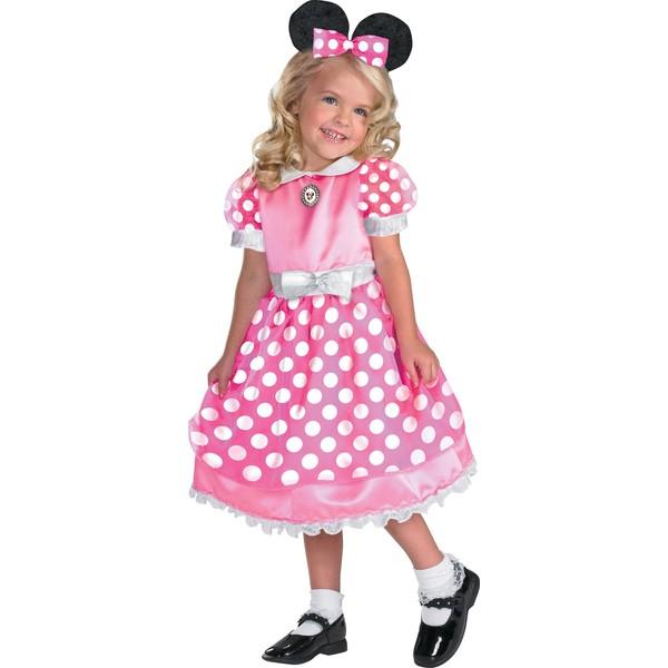 Disfraz de Minnie Mouse Clubhouse Rosa Deluxe para niña: comprar
