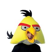 Máscara de Angry Birds Amarelo Deluxe Adulto