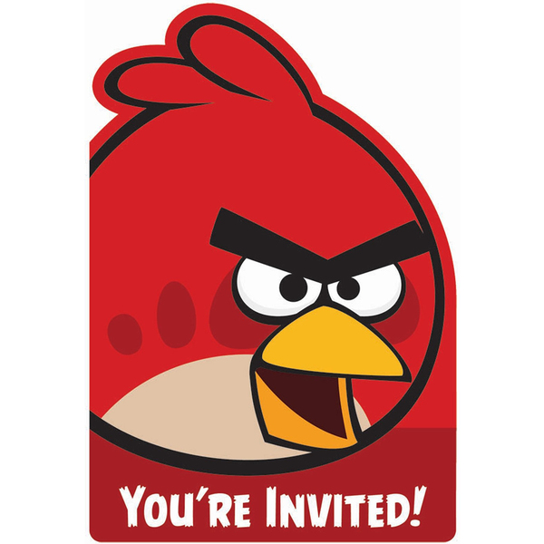 Invitaciones fiesta Angry Birds: comprar online