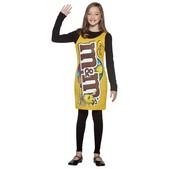 Disfraz de bolsa M&Ms vestido infantil