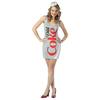 Disfraz de botella de Coca-Cola Light para mujer