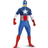 Disfraz de Capitán América Segunda Piel para hombre