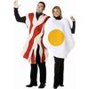 Disfraz de huevo con bacon 2 en 1 para pareja