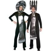 Disfraz de cuchara y tenedor 2 en 1 para pareja