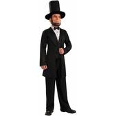 Disfraz de Abraham Lincoln con careta