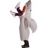 Disfraz de tiburón devorando a hombre