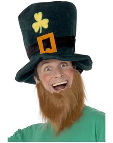 Sombrero de Leprechaun con barba