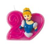 Vela número 2 Cenicienta Disney Princesas
