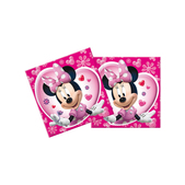 Set de servilletas rosas Minnie Mouse
