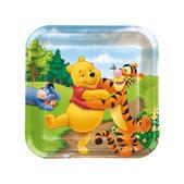 Set de platos cuadrados Winnie the Pooh