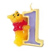 Vela número 1 Winnie the Pooh