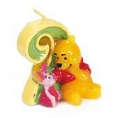 Vela número 2 Winnie the Pooh y Piglet