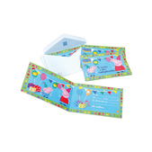 Set de invitaciones Peppa Pig