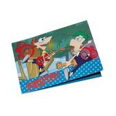 Set de invitaciones Phineas y Ferb