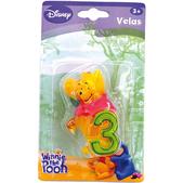 Vela número 3 Winnie the Pooh