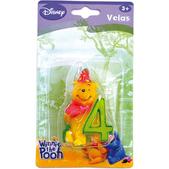 Vela número 4 Winnie the Pooh