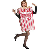 Disfraz de caja de palomitas de maíz