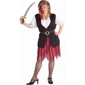 Disfraz de mujer pirata talla grande