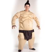 Disfraz de luchador de sumo musculoso