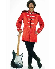 Disfraz rojo de estrella del rock n roll británica