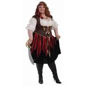 Disfraz de corsaria talla extra grande