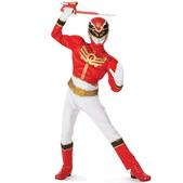 Disfraz de Power Ranger Megaforce Rojo musculoso para niño