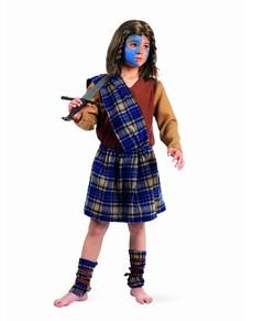 Disfraz de guerrero escocés para niño