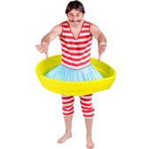 Disfraz de bañista con piscina