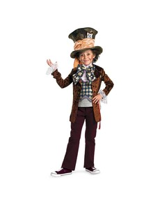 Disfraz de Sombrerero Loco deluxe Tim Burton para niño