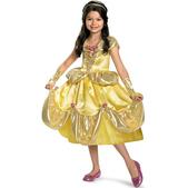Disfraz de Bella brillante deluxe para niña