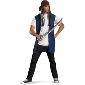Kit Adulto de pirata Jack Sparrow