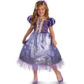 Disfraz de Rapunzel destello para niña