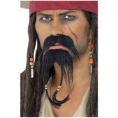 Ensemble de pilosité faciale de pirate