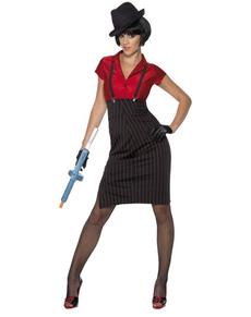Disfraz de gángster de los años 20 para mujer