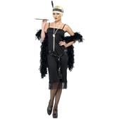 Disfraz de joven a la moda de los años 20 negro