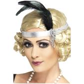 Bandeau pour les cheveux de charleston argenté
