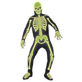 Disfraz de esqueleto viviente luminoso