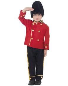 Disfraz de guardia con gorro alto para niño