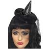 Mini sombrero de bruja negro