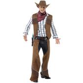 Disfraz de cowboy con flecos